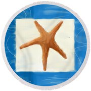 Starfish Galore Round Beach Towel by Lourry Legarde