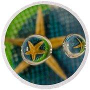 Starfish Refraction Round Beach Towel