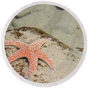 Starfish Underwater Round Beach Towel