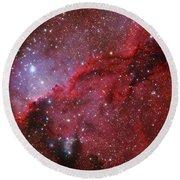 Starforming Emission Nebula Ngc 6188 Round Beach Towel