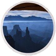 Starlit Mesa  Round Beach Towel by Dustin  LeFevre