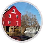 Starr's Mill In Senioa Georgia Round Beach Towel