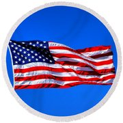 Stars And Stripes Forever Round Beach Towel