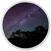 Stars At The Hundred Acre Wood Round Beach Towel