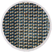 Stars Round Beach Towel by Greg Fortier