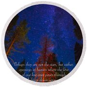 Stars Light Star Bright Fine Art Photography Prints And Inspirational Note Cards Round Beach Towel