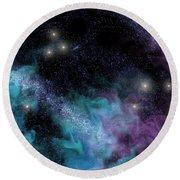 Starscape Nebula Round Beach Towel