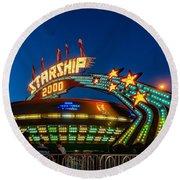 Starship 2000 Round Beach Towel