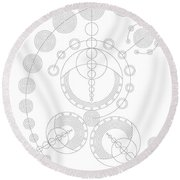 Starship Round Beach Towel