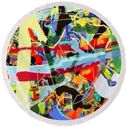 Wiping Out The Language Of Amalek 9dbh Round Beach Towel