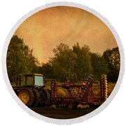 Starting Over - Vintage Country Art Round Beach Towel