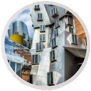 Stata Building 1 Round Beach Towel