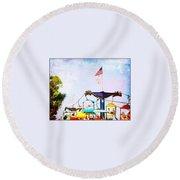 State Fair Round Beach Towel