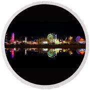 State Fair In Reflection Round Beach Towel
