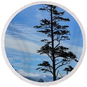 Stately Pine Round Beach Towel
