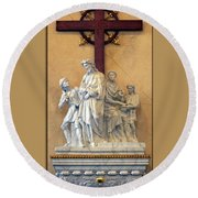 Station Of The Cross 01 Round Beach Towel