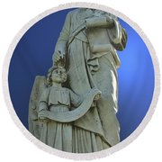 Statue 05 Round Beach Towel by Thomas Woolworth