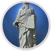 Statue 23 Round Beach Towel by Thomas Woolworth