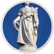 Statue Gettysburg Round Beach Towel