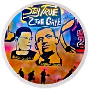 Stay True 2 The Game No 1 Round Beach Towel