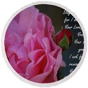 Stay With Me Round Beach Towel