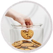 Stealing Cookies From The Cookie Jar Round Beach Towel