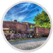 Steam Locomotive No 1151 Norfolk And Western Class M2c Round Beach Towel