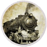 Steam Locomotive No. 334 Round Beach Towel