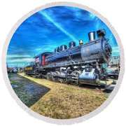 Steam Locomotive No 4 Virginian Class Sa  Round Beach Towel