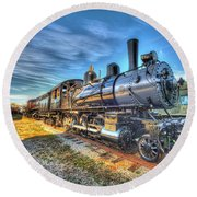 Steam Locomotive No 6 Norfolk And Western Class G-1 Round Beach Towel