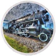 Steam Locomotive No 606 Round Beach Towel