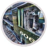 Steam Locomotive Norfolk And Western  No. 606 Round Beach Towel