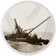 Steam Schooner Celia Steam SchoonerBuilt In 1884Lost At Pt Joe Round Beach Towel