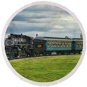 Steam Train Tr3627-13 Round Beach Towel
