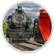 Steam Train Tr3637-13 Round Beach Towel