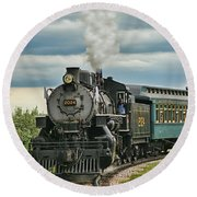 Steam Trains Tr3629-13 Round Beach Towel