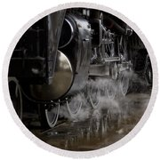 Steam Wheels Round Beach Towel