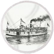 Steamboat Reliance Round Beach Towel
