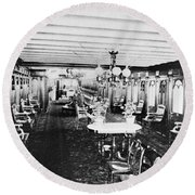 Steamer Interior, C1867 Round Beach Towel