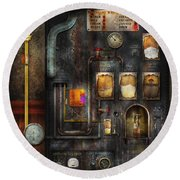 Steampunk - All That For A Cup Of Coffee Round Beach Towel