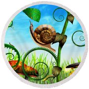 Steampunk - Bugs - Evolution Take Time Round Beach Towel
