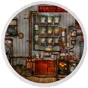 Steampunk - Coffee - The Company Coffee Maker Round Beach Towel