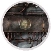 Steampunk - Connections   Round Beach Towel
