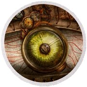 Steampunk - Creepy - Eye On Technology  Round Beach Towel