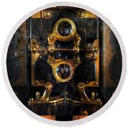 Steampunk - Electrical - The Power Meter Round Beach Towel