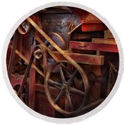 Steampunk - Gear - Belts And Wheels  Round Beach Towel
