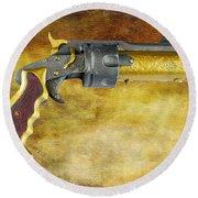 Steampunk - Gun - The Hand Cannon Round Beach Towel by Paul Ward