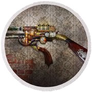 Steampunk - Gun - The Sidearm Round Beach Towel