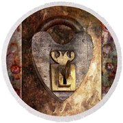 Steampunk - Locksmith - The Key To My Heart Round Beach Towel by Mike Savad