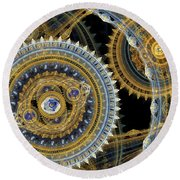 Steampunk Machine Round Beach Towel